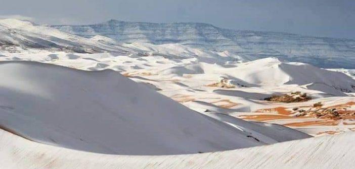 Ain Safra : Il neige en plein désert